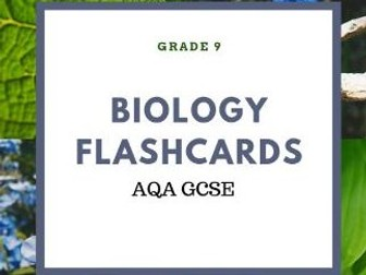 B9, B12, B13 FLASHCARDS BIOLOGY AQA GCSE