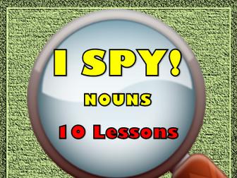 Nouns, Proper Nouns, Abstract Nouns, Plural Nouns, Lot of 10 Worksheets