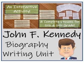UKS2 History - John F. Kennedy Biography Writing Unit