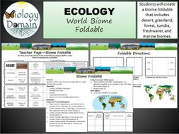 World Biomes Foldable