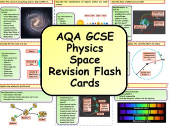 AQA KS4 GCSE Physics (Science) Space Revision Flashcards