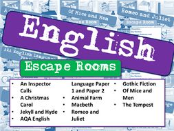 English Escape Rooms