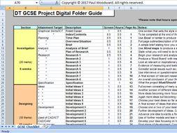 GCSE Design and Technology Digital Folder Checklist