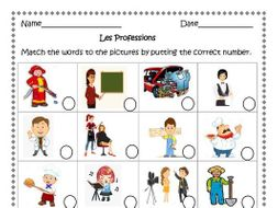 French Jobs ( Les Professions) 11 Distance Learning Worksheets.