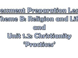 AQA A GCSE Theme B Religion and Life: Assessment and revision