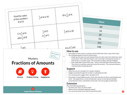 Fractions of Amounts (Mystery)