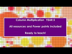 Column Multiplication Week Year 5