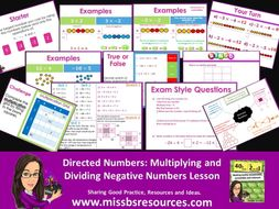 Multiplying and Dividing Negative Numbers - Full lesson with answers, quizzes & exam style questions