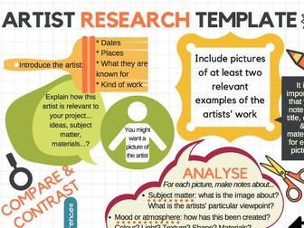 Artist research template - handout/poster