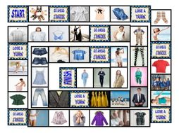 Clothing and Fashion Board Game