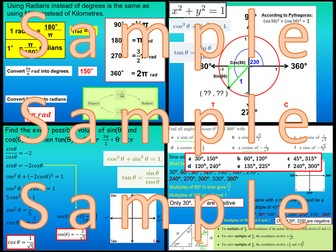 Unit Circle and Radians - Chapter 8 - International Baccalaureate - Standard Level