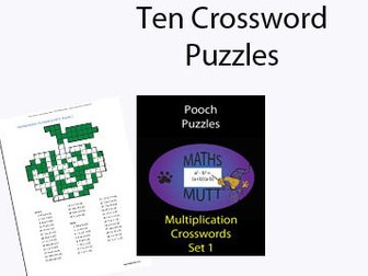 Multiplication Crosswords (Pooch Puzzles)
