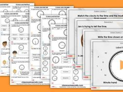 FREE Year 2 O'clock and Half Past Summer Block 3 Step 1 Maths Lesson Pack