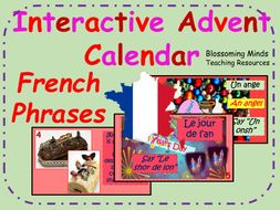 Interactive Advent Calendar - French Christmas Phrases - Noel