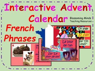 Interactive Advent Calendar - French Christmas Phrases - Noel