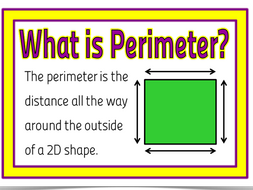 maths understanding and calculating perimeter 3 lessons by