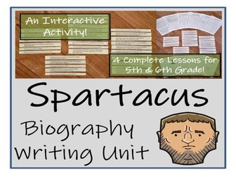 UKS2 History - Spartacus Biography Writing Activity