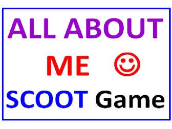 All About Me SCOOT Game (Cards, Grid, Lesson Plan Included)