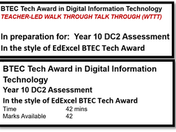 BTEC TA Digital Information Tech C3 Exam