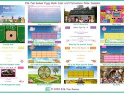 Jobs and Professions Piggy Bank English Interactive PowerPoint Game