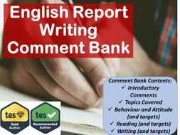 English Report Writing Comment Bank