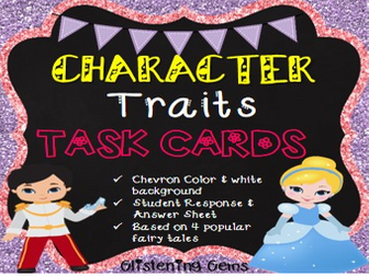 Character Trait Task Cards - Fairy Tales