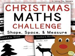 Christmas Math Challenge: Shape, Space, and Measure
