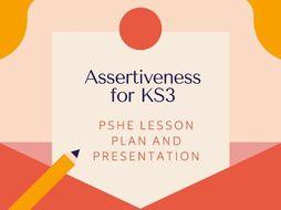 Assertiveness PSHE lesson plan for KS3