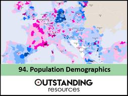 Economics: Lesson 94 - Population Demographics  and Dependency (+ worksheet)
