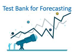 Forecasting Test Bank (Operation Management)