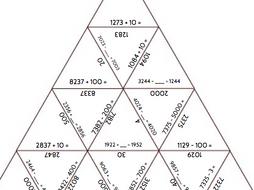 Adding/Subtracting Multiples of 1/10/100/1000 Tarsia