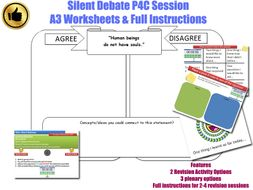[P4C] Philosophy 4 Children SILENT DEBATE ACTIVITY (Form time/tutor time/assembly ) Morality/Ethics