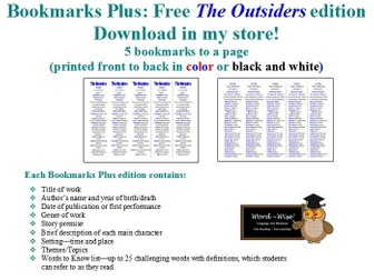 Night of the Twisters edition of Bookmarks Plus: Fun Freebie and a Handy Little Reading Aid!