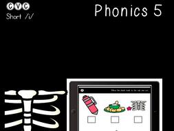 CVC Short I - Digital Center - Odd One Out - Phonics (Google Classroom)