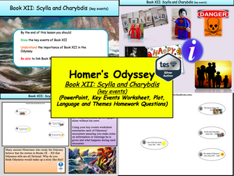 Homer's Odyssey – Book XII: Scylla and Charybdis (key events)