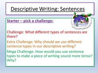 Christmas Descriptive Writing Sentences