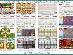 Ability Modal Verbs Kooky Class Spanish PowerPoint Game-An Original by Ernesto