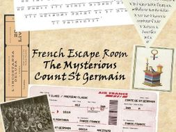 French Escape Room activity - Find the immortal Count de St Germain