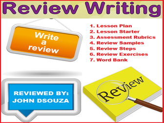 REVIEW WRITING : LESSON AND RESOURCES