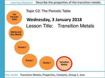 AQA GCSE: C2 The Periodic Table: L8 Transition Metals
