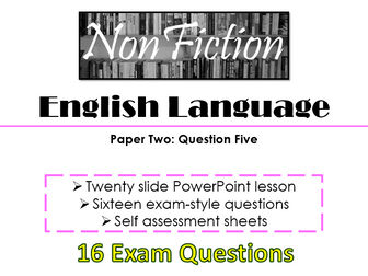 English Language Paper Two: Question Five - Revision & Exam Practice Questions (AQA, 9-1 GCSE)