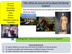 Year 7: Roman Britain and Sources (Lesson 6)