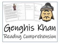UKS2 History - Genghis Khan Reading Comprehension Activity