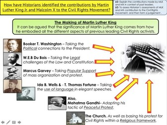 Civil Rights Martin Luther King and Malcolm X through Historians views