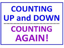 Counting Up and Down PLUS Counting Again and Again (10 Worksheets)
