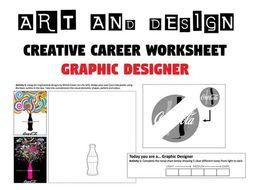 GRAPHIC DESIGNER Worksheet / Cover Lesson / Homework - Creative Careers - Art and Design
