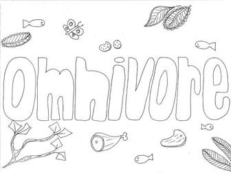 Omnivore Colouring Page