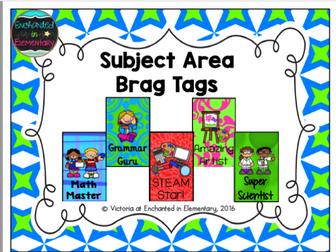 Brag Tags- Subject Area Set