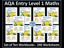 AQA Entry Level 1 Maths Bundle