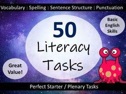 50 Short Literacy Tasks / Starters